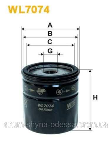 Фильтр масляный sm110 WIXFILTRON WX WL7074-12 op629
