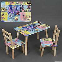 Мини детский столик и 2 стульчика