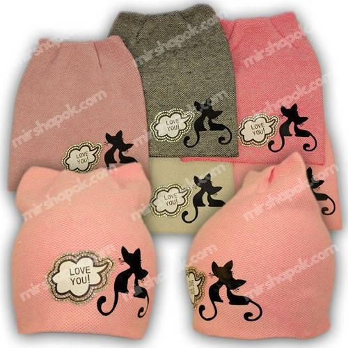Вязаная шапка для девочки, KY31