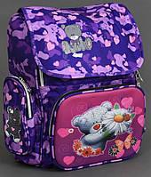 Школьный ранец ортопедический 1-4 класс Мишка для девочек. Рюкзак, портфель для школы