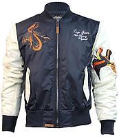 Куртка Top Gun The Flying Legend Bomber Jacket (бело-синяя)