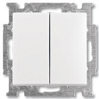 Вимикач прохідний 2-клавішний білий - Abb Basic 55