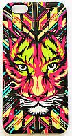Чехол на Айфон 6/6s Luxo Face приятный Пластик светится в темноте Тигр