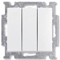 Выключатель 3-клавишный белый - Abb Basic 55