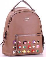 Женский городской рюкзак FENDI 80995 Брендовые женские рюкзаки купить недорого , фото 1