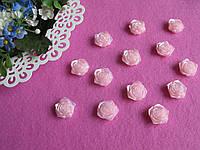 Серединка акриловая - Розовая роза с перламутром  р-р -19 мм цена 2 грн - 1 шт