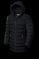 Мужская зимняя длинная куртка черного цвета (р. 48-56) арт. 8803Q
