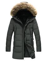 Мужская зимняя куртка с капюшоном. Модель 6112