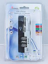 Кардридер + USB hub D&L