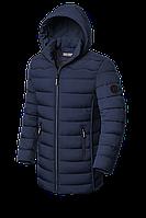 Мужская зимняя длинная куртка синего цвета (р. 48-56) арт. 8803L