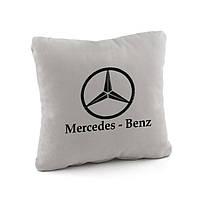 Подушка с лого Mercedes Benz флок, фото 1