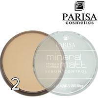 Parisa - Пудра компактная PP-06 Mineral Matt Sebum Control 15г Тон 02 caramel средний тон
