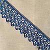Кружево макраме Завиток синее, 7 см