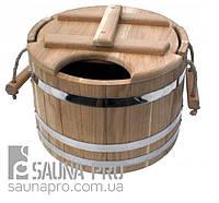 Запарник дубовый для бани 15 л (NS), Saunapro