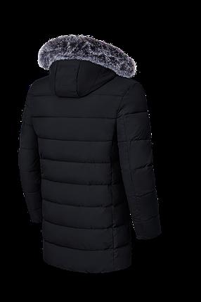 Длинная мужская зимняя куртка черного цвета (р. 48-56) арт. 8802G, фото 2