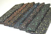 Резиновый коврик 1500х700х15 тёмно-коричневы