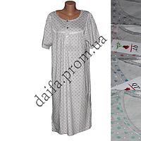 Женская котоновая ночная рубашка D51 (р-ры 46-54) оптом со склада в Одессе.