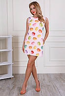 Женское летнее платье с оригинальным рисунком