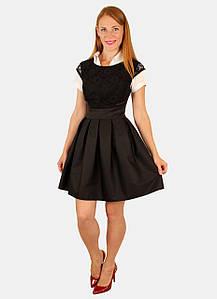 Модное школьное платье 42-44-46 р ( черный, синий )