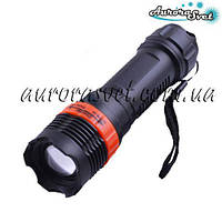 Фонарик переносной AuroraSvet- 29, zoom (батарейки 3xААА) пластик. LED фонарь. Светодиодный фонарь.