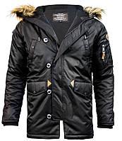 Куртка аляска Top Gun N-3B Parka (черная)