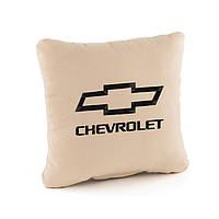 Подушка с лого Chevrolet  флок, фото 1
