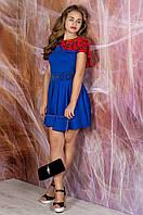 Платье Мадонна (электрик с кораллом)
