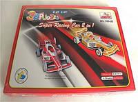 3d пазл  супер гоночный автомобиль 2 в 1