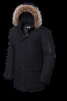Удлиненная мужская зимняя куртка с мехом (р. 48-56) арт. 8801А