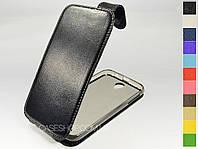Откидной чехол из натуральной кожи для Lenovo A850