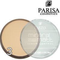 Parisa - Пудра компактная PP-06 Mineral Matt Sebum Control 15г Тон 03 beige средний тон