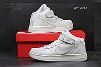 Мужские кроссовки Nike Air Force белые 2718