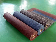 Резиновый коврик 1500х700х15 кофейный