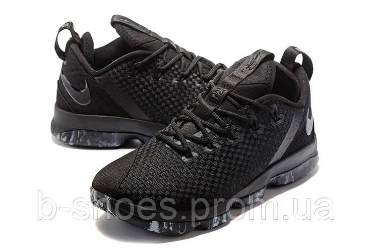 16d330dbce9c Мужские баскетбольные кроссовки Nike LeBron 14 Low (Triple Black) ...