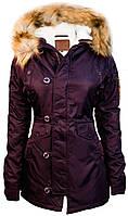 Жіноча куртка парку Miss Top Gun Fitted Nylon N-3B Parka TGJ1574 (Burgundy)