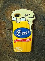 Силиконовый чехол Beer для iPhone SE/5S/5,Пиво