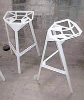 Стул барный Chair one Bar белый алюминий,стиль модерн, дизайнKonstantin Grcic