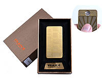 Зажигалка подарочная MAKE (USB) №4695-3