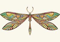 "Схема для вышивки бисером POINT ART Мехенди ""Бабочка"", размер 35х25 см"