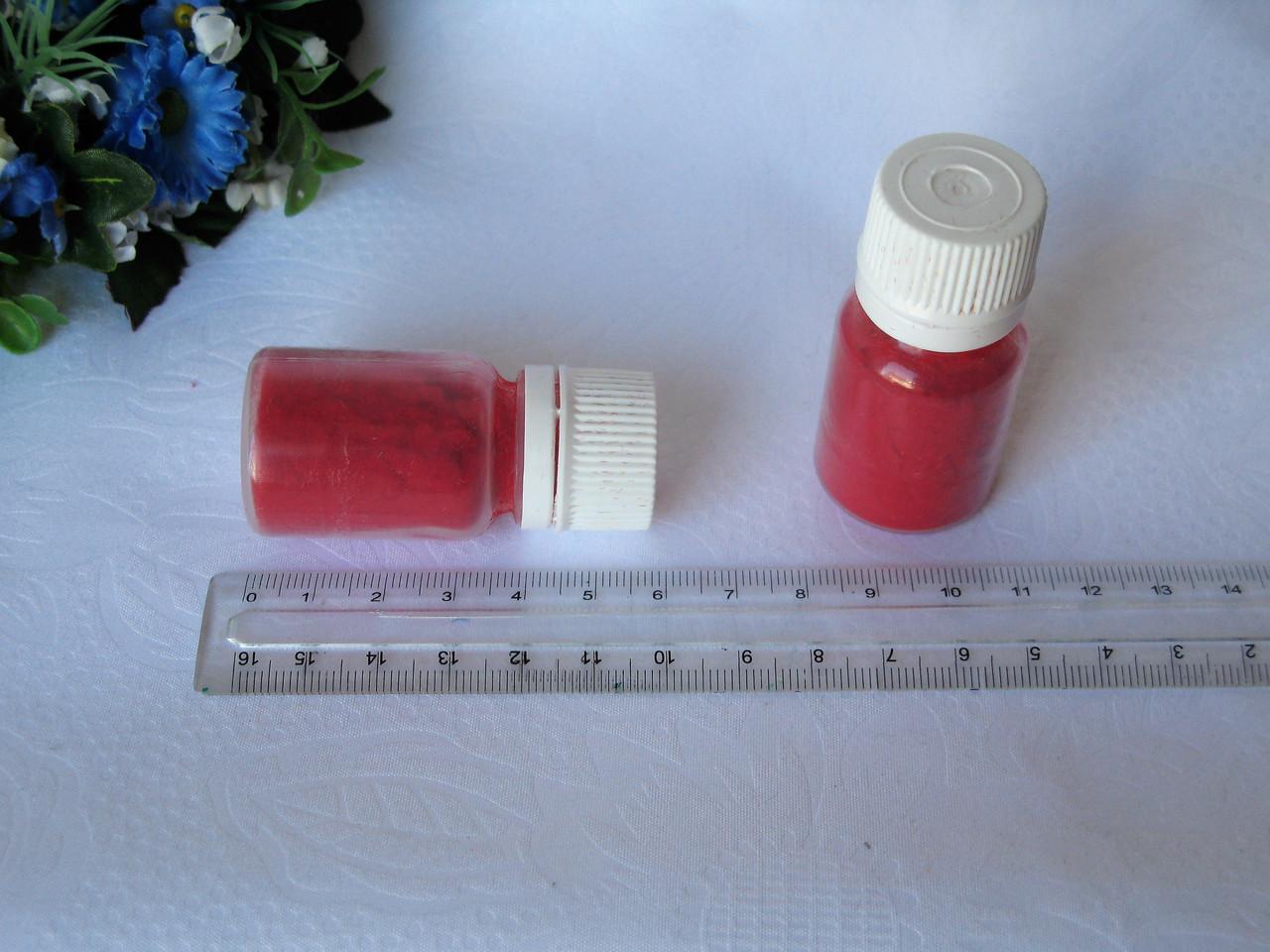 Флок. Цвет красный.  р-р 1 мм, объем 20 мл - цена 15 грн