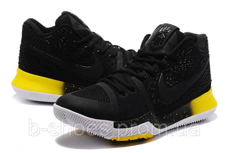 Мужские баскетбольные кроссовки Nike Kyrie 3 (Black/Yellow)