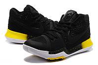 Мужские баскетбольные кроссовки Nike Kyrie 3 (Black/Yellow), фото 1