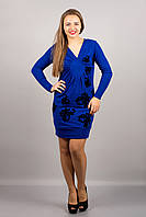 Платье в насыщенном синем цвете
