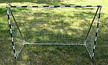 Футбольные ворота, бело-синие, 1800Х1200, фото 2