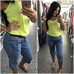 Женские джинсовые бриджи