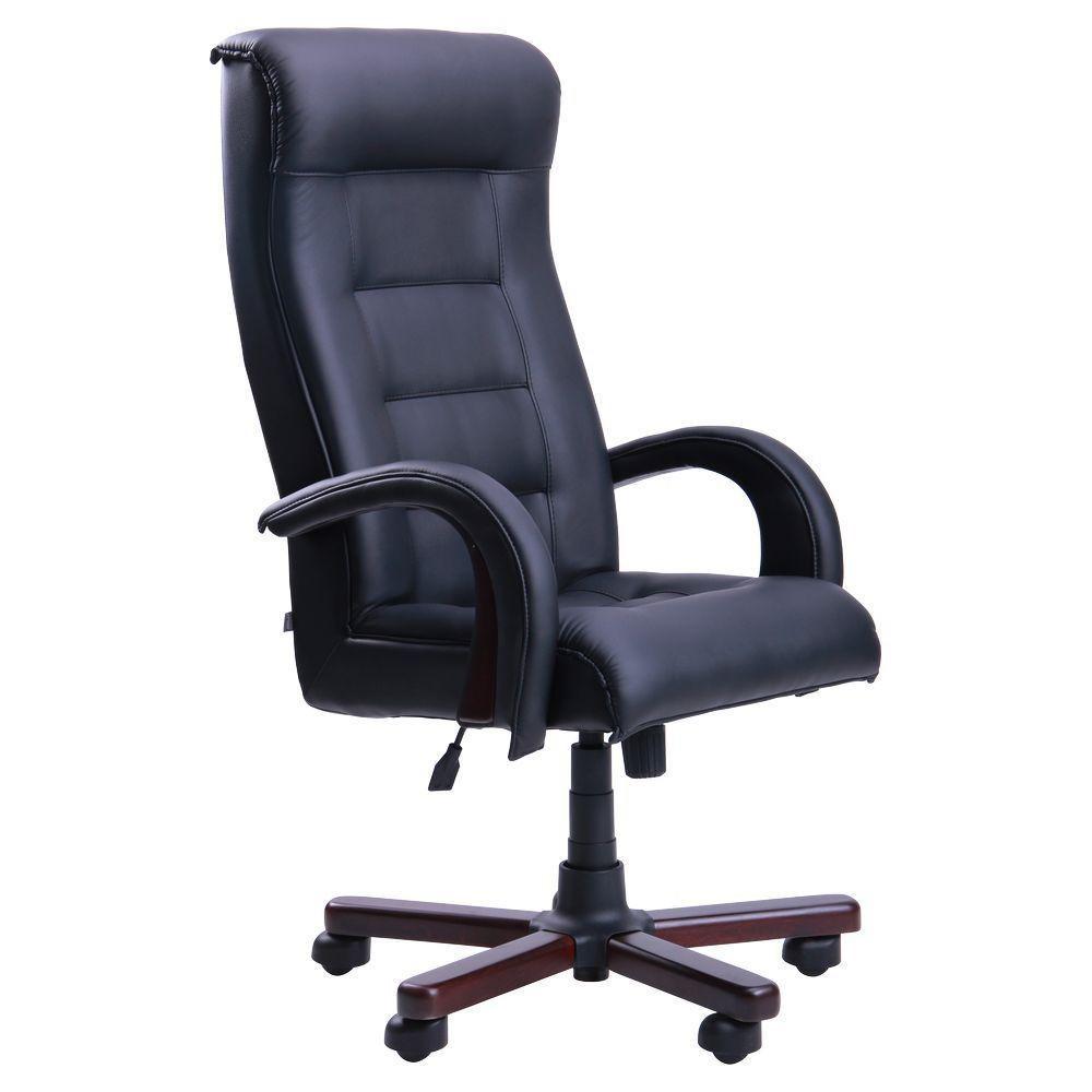 Кресло Роял Люкс вишня Кожа Люкс комбинированная черная (AMF-ТМ)