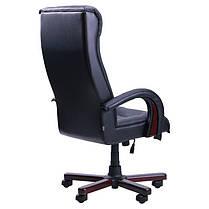 Кресло Роял Люкс вишня Кожа Люкс комбинированная черная (AMF-ТМ), фото 2