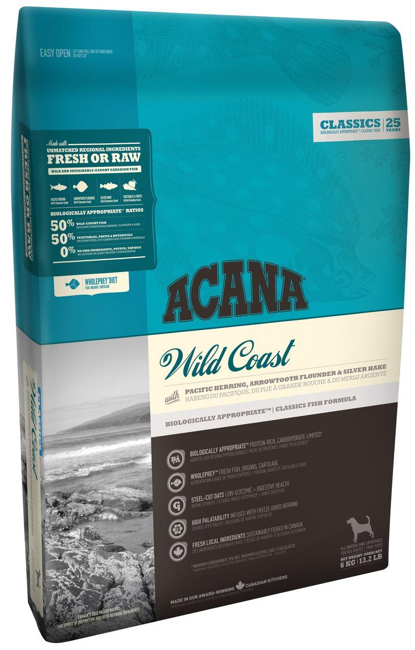 Acana Wild Coast 2 кг акана для собак всех пород и возрастов, с рыбой