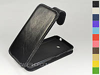 Откидной чехол из натуральной кожи для Nokia Lumia 635