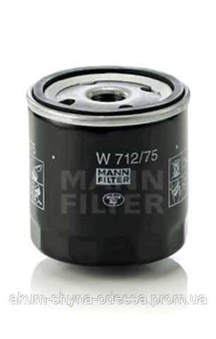 Фильтр масляный sm105 MANN MF W712/75 op570